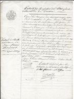 TARARE EXTRAIT D ACTE DE NAISSANCE DE 1849 POUR J F BOURRAT NE EN 1827 FILS DE PIERRE ET CATHERINE PASSERAT - Historical Documents