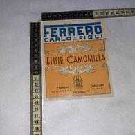TL0294 FERRERO CARLO & FIGLI S.R.L. ELISIR CAMOMILLA - Etiquettes
