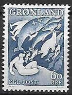 """GROENLAND    -   1957  .  Y&T N° 30 **.  Légende : """"Mère De La Mer"""" - Groenland"""