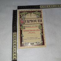 TL0296 MILANO GIOVANNI CALISSANO & FIGLI WERMOUTH - Etiquettes