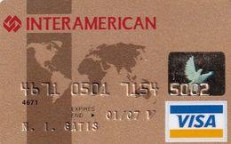 GREECE - Interamerican, Nova Bank Gold Visa(reverse Saetic), 04/04, Used - Carte Di Credito (scadenza Min. 10 Anni)