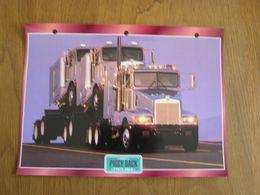 PIGGY BAG Convois USA Trucks Trailers Transport Fiche Descriptive Camion Truck Camions - Autres