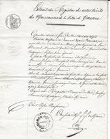 TARARE COPIE D ACTE DE NAISSANCE POUR J M BOURRAT NE EN 1817 FILLE DE PIERRE TOILIER ET CATHERINE PASSERAT - Historical Documents