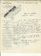 Belgique - Ham Sur Hèure - Facture Dcierie Bois .Lejong - Belle Vignette  - 1927.. - Réf 43 - - 1900 – 1949