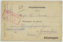 Pasteur Paul Monod à Lille à Son Frère Edouard Prisonnier Au Camp De Gnadenfrei (Pilawa Gorna Pologne). Protestantisme . - Guerre De 1914-18