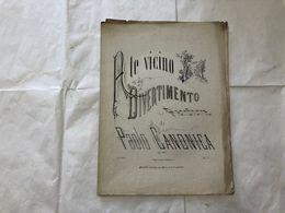 SPARTITO MUSICALE A TE VICINO DIVERTIMENTO PIANOFORTE PAOLO CANONICA. - Partitions Musicales Anciennes