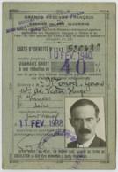 SNCF . Carte D'identité 1938 Pour Réduction De 40% . Gérard Monod , Vanves , Fils Du Pasteur Paul Monod . Protestantisme - Other