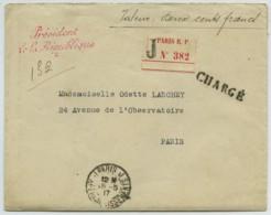 Président De La République / Chargé 1917 . Marraines Des Alpins . Autographe Olivier Sainsère . Monod Protestantisme . - Marcophilie (Lettres)