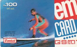 Mauritius, MU-EMT-REF-0002, Surfing, 2 Scans. - Maurice