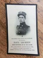 Paul Lechien, Sous-officier Au 11e De Ligne, Schaerbeek 1895, Haecht  1914, Tombé Au Champ D'Honneur - 1914-18