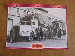 MISSION MORY  1941 Sahara Transaharien France  Convois Trucks Trailers Transport Fiche Descriptive Camion Truck Camions - Autres