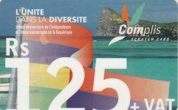 Mauritius, MU-EMT-REF-0002, L'unite Dans La Diversite, 2 Scans. - Maurice