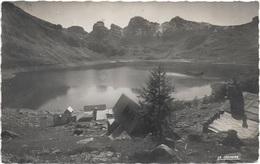 04 - Le Lac D'ALLOS Les Tours Du Lac Le Chalet Refuge écrite Timbrée - Autres Communes