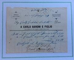 LUCCA - SETERIE MODE  TAPPETI DA TERRA Di CARLO BARONI E FIGLIO  - FATTURA DEL 17/1/1869 - Italie
