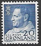 GROENLAND    -   1963  .  Y&T N° 41 **.   Frédéric IX. - Groenland