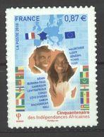 N°472 Y.T. Neuf** France Auto-adhésif  2010 Cinquantenaire Des Indépendances Africaines - Luchtpost