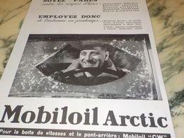 ANCIENNE PUBLICITE SOYEZ PARES HUILE MOBILOIL  1933 - Andere Verzamelingen