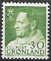 GROENLAND    -   1963  .  Y&T N° 42 A **.    Frédéric  IX - Groenland