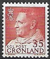 GROENLAND    -   1963  .  Y&T N° 43 **.    Frédéric  IX - Groenland