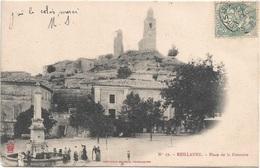 04 - REILLANNE Place De La Fontaine Animée Précurseur écrite Timbrée - Autres Communes
