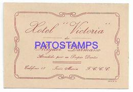 137090 ARGENTINA CORDOBA JESUS MARIA PUBLICITY HOTEL VICTORIA CARD NO POSTAL POSTCARD - Argentine