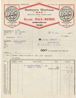 Allier - Vichy - Elysée Max Burel - Revêtements Métalliques - 1932 - France