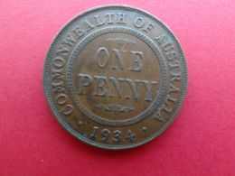 Australie  1 Penny  1934  Km 23 - Moneda Pre-decimale (1910-1965)