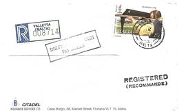 Malta 1996 Valletta Shooting Sport Registered Domestic Cover - Tiro (armi)