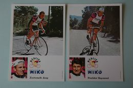 CYCLISME: CYCLISTE : RAYMOND POULIDOR ET JOOP ZOETEMELK - Cycling