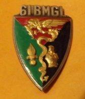 LEGION : 61° Bataillon Mixte De Génie Légion, émail, Dos Guilloché Embouti , FABRICANT DRAGO PARIS ,HOMOLOGATION 2277, E - Hueste