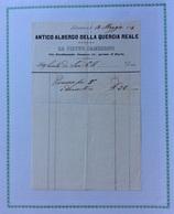 LIVORNO - ANTICO ALBERGO DELLA QUERCIA REALE Tenuto Da Pietro Gamberini :PRANZO PER 5 E Domestico  L. 36 - 18/5/1854 - Italie