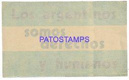 137098 ARGENTINA CALCO STICKER SOMOS DERECHOS Y HUMANOS NO POSTAL POSTCARD - Otras Colecciones