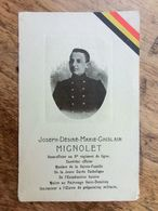 Joseph Mignolet, Sous-Officier Au 8e De Ligne, Mort Pour La Patrie, Calais 1914, Messe D'anniversaire à Huy - 1914-18