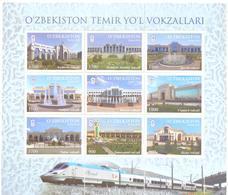 2018. Uzbekistan, Railway Stations Of Uzbekistan, Sheetlet, Mint/** - Uzbekistan