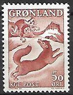 GROENLAND    -   1966  .  Y&T N° 56 **.    Légende : L' Enfant Et Le Renard. - Groenland