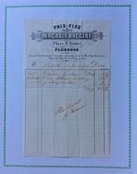 FLORENCE - MAGASIN BACCINI - PRIX - FIXE -PLACE S.TRINITE' - FATTURA CON FIRMA AUTOGRAFA DI RICEVUTA DEL 18/10/1858 - Italie