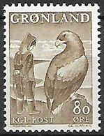 GROENLAND    -   1966  .  Y&T N° 57 **.    Légende : La Fillette Et L' Aigle. - Groenland