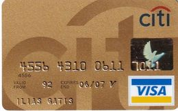GREECE - CitiBank Gold Visa(reverse Schlumberger), 10/03, Used - Carte Di Credito (scadenza Min. 10 Anni)