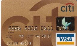 GREECE - CitiBank Gold Visa(reverse Schlumberger), 11/02, Used - Carte Di Credito (scadenza Min. 10 Anni)