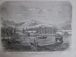 Gravure  1869   Constantinople   Voyage De L Impératrice   Palais Du Beylerbey  Résidence Turquie - Non Classés