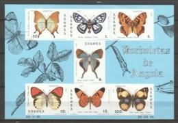 Angola 1981 Mi Block 6 MNH BUTTERFLIES - Schmetterlinge