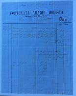 MODA -. FIRENZE - FORTUNATA AMADEI MODISTA  - FATTURA CON PRESTAZIONI INTERESSANTI DEL 11/6/1858 - Italie