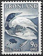 GROENLAND    -   1966  .  Y&T N° 58 **.    Légende :  Canard Et  Corbeau - Groenland