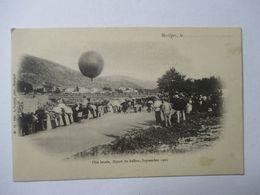 BESSEGES   -  DEPART  DU  BALLON  POUR  LA   FETE  LOCALE     SEPTEMBRE  1902       .....            TTB - Bessèges