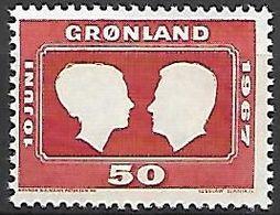 GROENLAND    -   1967  .  Y&T N° 59 **.   Noces Princières - Groenland