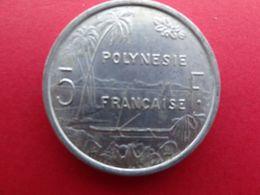 Polynesie  Francaise  5 Francs  1965  Km 4 - Polynésie Française