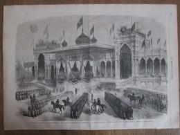 Gravure  1869  Turquie Constantinople  Revue  Pour L Impératrice Eugénie   UNKIAD-SKELASSI - Vieux Papiers
