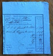 DUCATO DI LUCCA - DOGANA PRINCIPALE -  BOLLETTA D'INTRODUZIONE : 6 Guanti Di Pelle -  24 Drappi Di Seta - 11/10/1847 - Italie