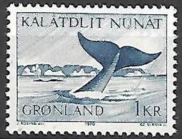 GROENLAND    -   1969  .  Y&T N° 62 **.    Baleine - Groenland