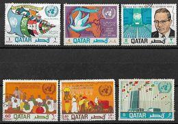 QATAR 1968 UNITED NATIONS DAY.COMPLETE SET USED - Qatar